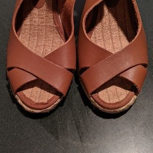 Dune London Leather Wedges